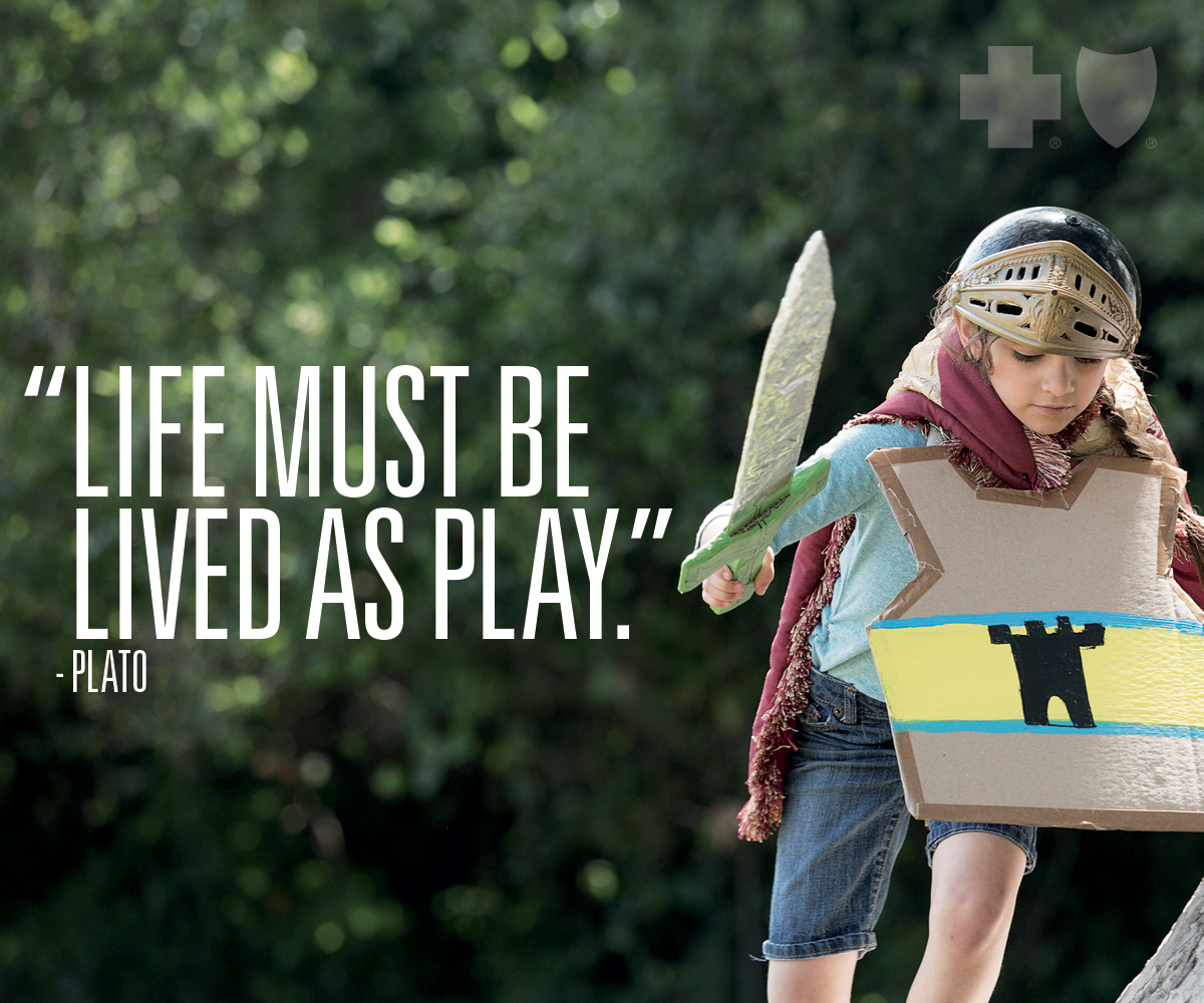 Life must be lived as a play - Plato