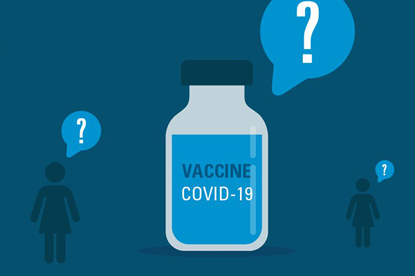 Illustration Of Women and Covid Vaccine