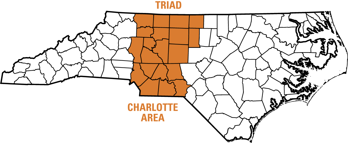 Triad NC Map