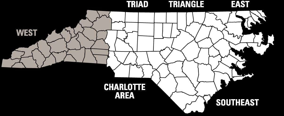 Western NC Map