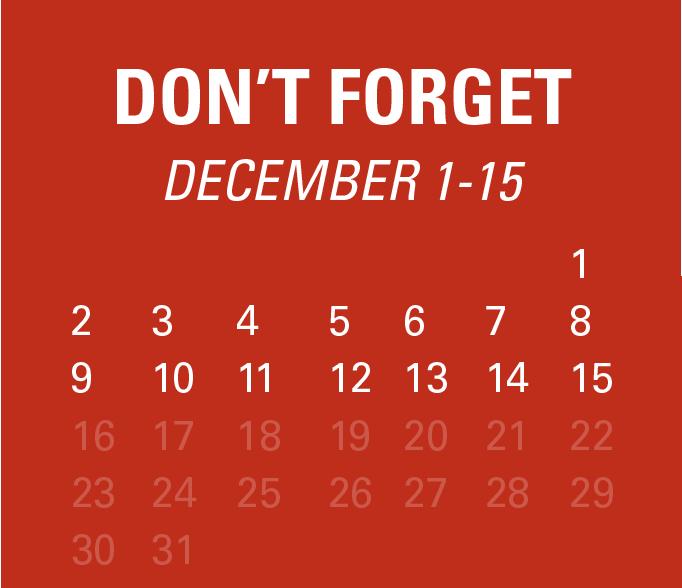 Dont Forget - December 1-15
