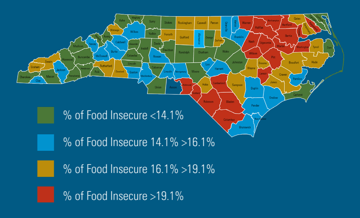 NC map of food insecurity