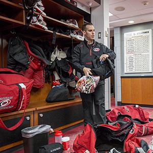 Jorge in the locker room