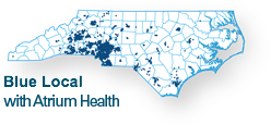 network map for Blue Local with Atrium Health