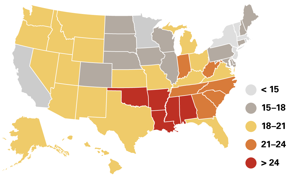 Opioid Impact Map for US