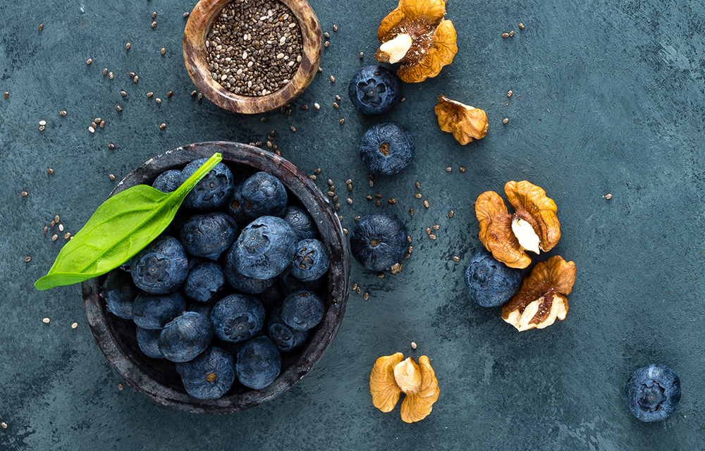 Blueberries and Walnuts