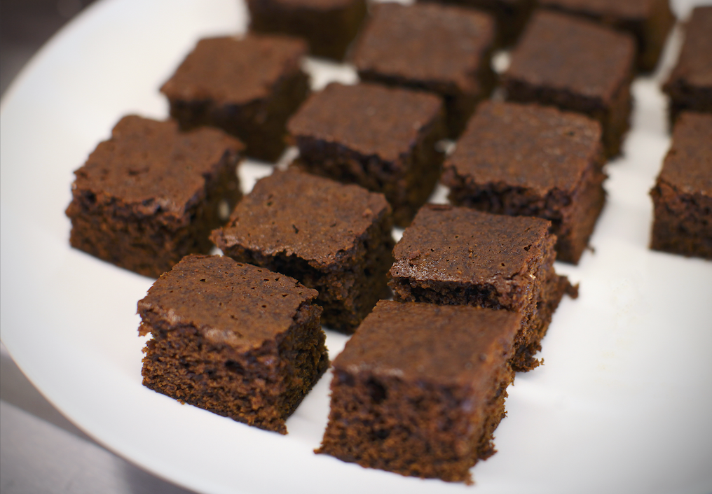 Brownie bites on a plate